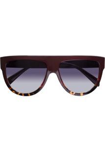 Óculos De Sol Uva Retro Celina Vinho