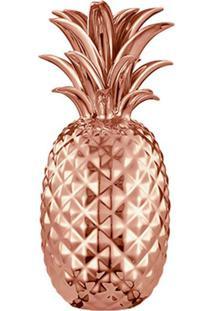 Pote Decorativo Abacaxi Cobre