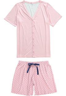 Pijama Curto Com Botões Malwee Liberta