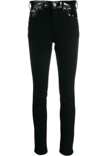 Versace Jeans Couture Calça Skinny Com Contraste - Preto