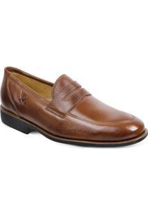 Sapato Em Couro Veneza 220220 - Masculino-Marrom Claro
