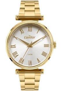 Relógio Condor Coleção Analógico Feminino - Feminino-Dourado