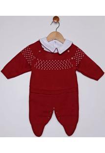 Enxoval Tricot Infantil Para Bebê Menina - Vermelho
