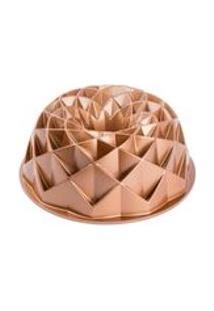 Forma Antiaderente De Aluminio Fundido Pandora Dourada 23,7X9,5Cm