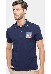 Camisa Polo Lacoste Piquet Fit Paris Masculina - Masculino
