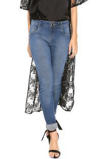Calça Jeans Morena Rosa Skinny Andreia Azul-Marinho