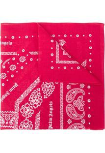 Palm Angels Lenço Com Estampa Paisley Logo - Vermelho