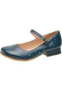 Sandália Retrô Boneca Touro Boots Feminina Azul - Kanui
