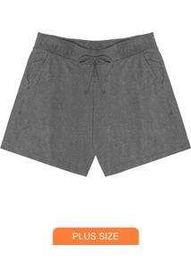 Shorts Feminino Molecotton Cinza
