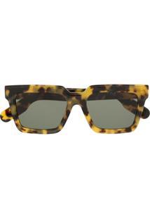 Kenzo Óculos De Sol Quadrado - Marrom
