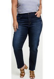 Calça Jeans Cigarrete Puídos Feminina Plus Size Marisa