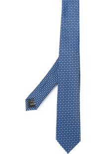 Ermenegildo Zegna Gravata Estampada - Azul