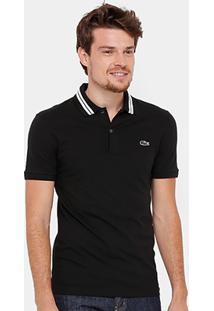 Camisa Polo Lacoste Piquet Slim Fit Rubber Croco Masculina - Masculino