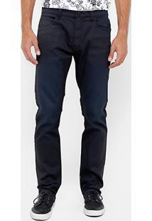 Calça Jeans Slim Ellus Resinada Super Escura Masculina - Masculino