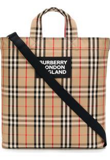 Burberry Vintage Check Tote Bag - Neutro