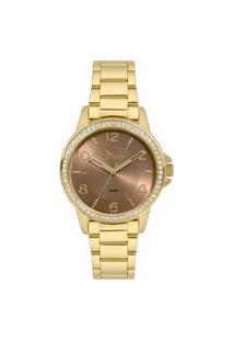 Relógio Condor Feminino Analógico Dourado Co2035Kwnk4M