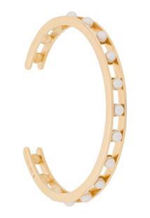 I.V.I. Bracelete Tiger Com Pérola - Dourado