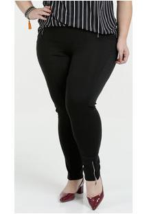 e82c68cde3d Marisa. Calça Feminina Legging Zíper Plus Size Marisa