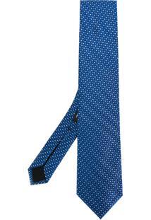 Boss Hugo Boss Gravata Com Padronagem - Azul