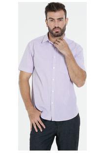 Camisa Masculina Manga Curta Xadrez Marisa
