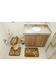 Jogo De Tapete Para Banheiro Royal Luxury 103-3 3 Peças