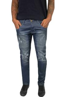Calça Brookside Jeans Resinado Cinza