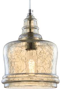 Pendente Vidro Craquelado 5671 Mart Collection Transparente