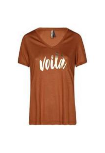 Camiseta Feminina Voilà Caramelo