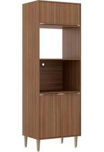 Armário De Cozinha 3 Portas 2 Lugar Para Forno 5404 Nogueira - Multimóveis