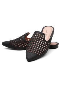 Sapatilha Mulle Bico Fino Sb Shoes Ref.10106L Preto