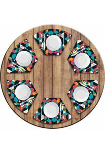 Jogo Americano Love Decor Para Mesa Redonda Wevans Polygonal Kit Com 6 Pçs