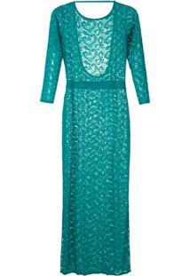 Brigitte Vestido Longo De Renda - Verde