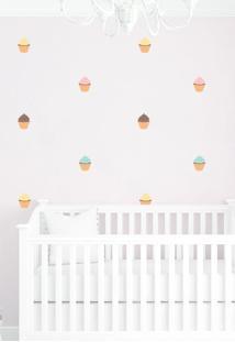 Adesivo Decorativo Stixx Mini Cupcakes Marrom