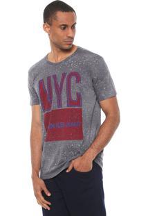 Camiseta Calvin Klein Jeans Nyc Cinza
