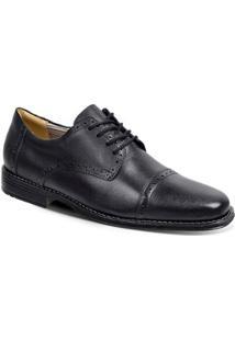Sapato Social Oxford Couro Sandro & Co. Masculino - Masculino-Preto