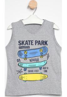 """Regata """"Skate Park""""- Cinza & Azul- Gueda Kidsgueda Kids"""