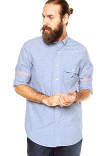 Camisa Nautica Bolso Azul