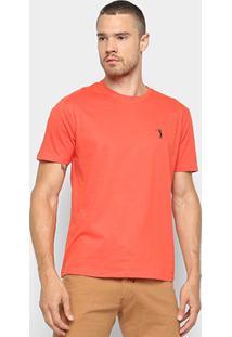 Camiseta Aleatory Básica Masculina - Masculino-Laranja