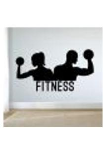 Adesivo De Parede Casal Fitness - Eg 58X110Cm