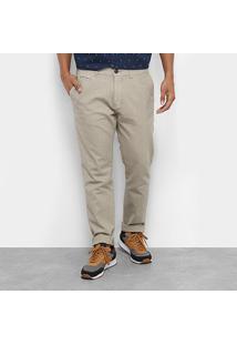 Calça Skinny Jab Linho/ Algodão Masculino - Masculino-Areia