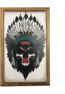 Quadro Decorativo Personalizado Madeira Quarto Sala Índio