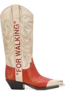 Off-White Bota Cowboy For Walking - Neutro