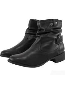 Bota Corazzi Leather Deluxe Folk Fivela Pelica Preta