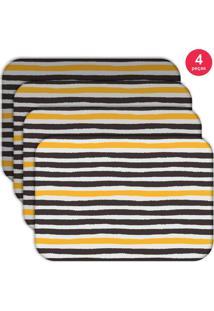 Jogo Americano Love Decor Wevans Abstrato Stripes Kit Com 4 Pçs