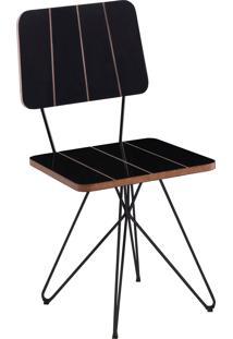Cadeira Costela Preta Daf - Preto - Dafiti