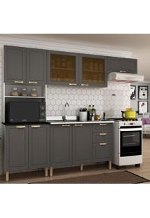 Cozinha Completa 4 Peças Americana Multimóveis 5677 Branco/Grafite