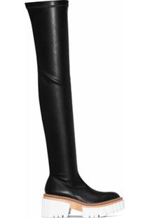 Stella Mccartney Bota Over-The-Knee Emilie - Preto