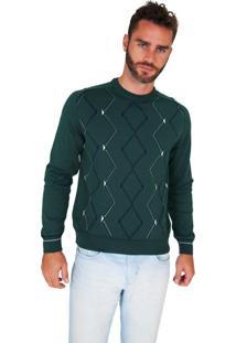 Blusa G'Dom Verde Frente Geométrica