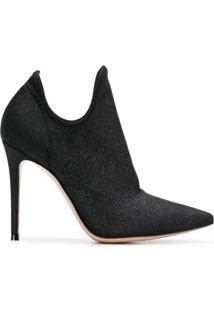 Gianvito Rossi Cut-Out Ankle Boots - Preto