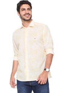 Camisa Aramis Reta Estampada Amarela